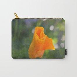 Orange California Poppy, Eschscholzia californica, Flower Carry-All Pouch