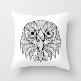 Australian Barking Owl Mandala Throw Pillow