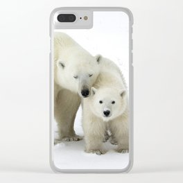 Mother and Cub Clear iPhone Case