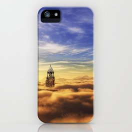 Wonderful Dreamy Church Towers Levitating In Sky UHD iPhone Case