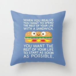 When Harry Met Sandwich Throw Pillow