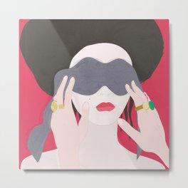 Eyes, blindfold Metal Print