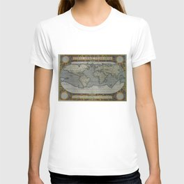Vintage Map of The World (1595) 2 T-shirt