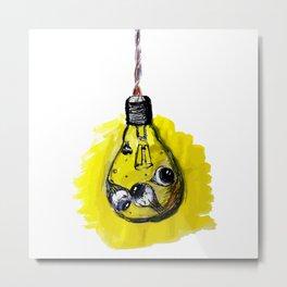 light eyes bulb Metal Print