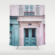 Paris Facades. Shower Curtain