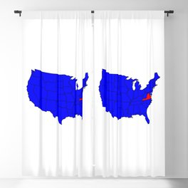 State of Virgina Location Blackout Curtain