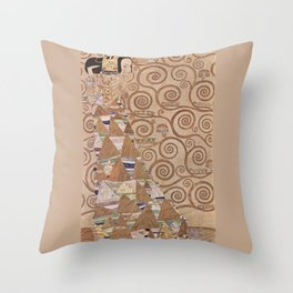 Gustav Klimt - The Expectation Throw Pillow