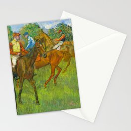Before the Race - By Edgar Degas Stationery Cards