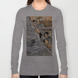 Kuniyoshi Utagawa, The ghost of Taira Tomomori, Daimotsu bay Long Sleeve T-shirt