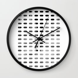 Blinds bw Wall Clock