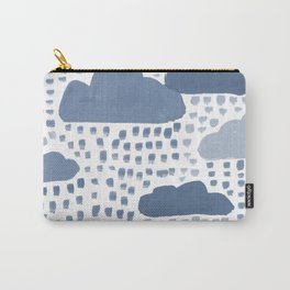 Hand Painted Rain Clouds Shades of Grey Carry-All Pouch