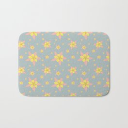 Columbines Scattered Bath Mat