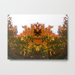 Sunny Autumn Leaves Fall Vibes Metal Print
