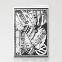 volkswagen Stationery Cards featuring Volkswagen Campervans by Squidoodle