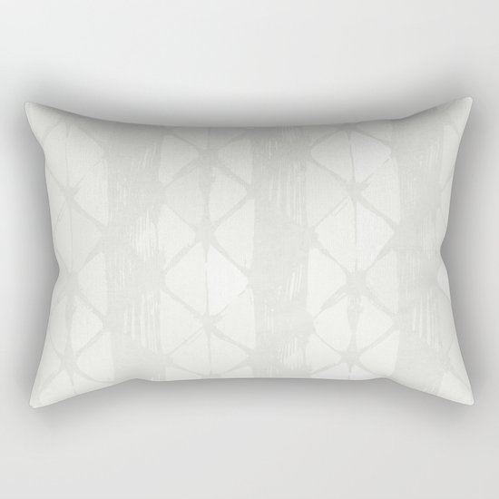 Simply Braided Chevron Lunar Gray Rectangular Pillow