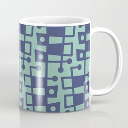 Mid Century Modern Abstract 213 Blue and Turquoise Coffee Mug
