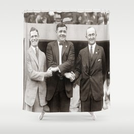 Babe Ruth, George Sisler, Ty Cobb  Circa 1924 Shower Curtain