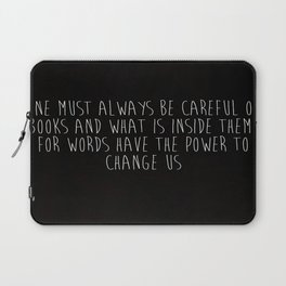One Must Always Be Careful Of Books Laptop Sleeve