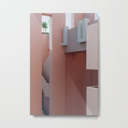 Muralla Roja photography print ᝢ abstract travel architecture pink photo Metal Print