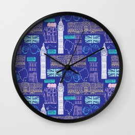 Queen and Country - Blue Wall Clock