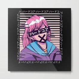 Otaku Anime Pastel Goth Girl Grunge Metal Print