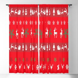 Ugly Christmas Sweater Blackout Curtain
