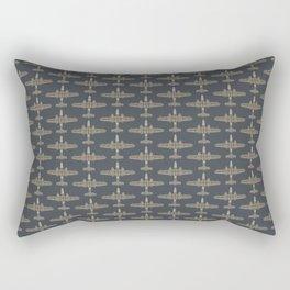 B-25 Mitchell Bomber Pattern Rectangular Pillow