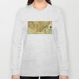 Map of the Shenandoah Valley Railroad Route (1890) Long Sleeve T-shirt