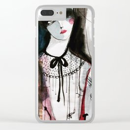 Helena Portrait Clear iPhone Case
