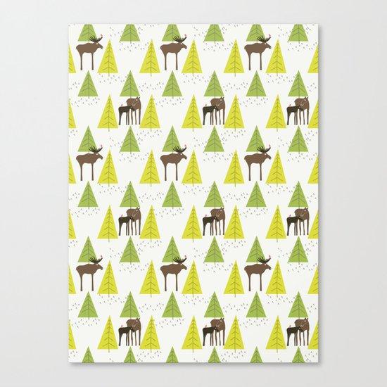 Moose Family 3 Canvas Print
