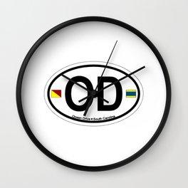 Ocean Drive Beach - South Carolina. Wall Clock