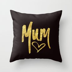 Mum Handwritten Type Throw Pillow