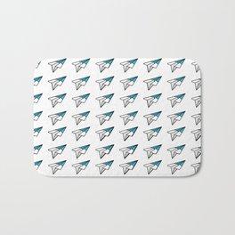 Avion Papel Azul Bath Mat