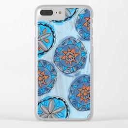 Pennsylvania Dutch Blue Hex Pattern Clear iPhone Case