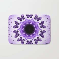 All things with wings (purple) Bath Mat