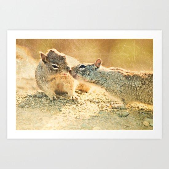 Just a little kiss... Art Print
