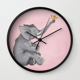 A Little Birdie Told Me - Elephant and Bird Wall Clock