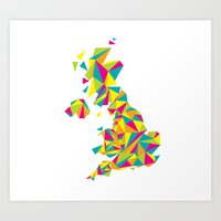 Abstract United Kingdom Bright Earth Art Print