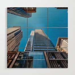 Looking up at MidCity Centre in Sydney Wood Wall Art