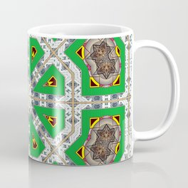 Green Octagons Coffee Mug