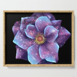 Galaxy in bloom Serving Tray