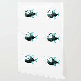 Confused Cartoon Fish Wallpaper
