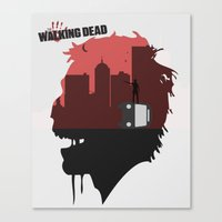 walking dead Canvas Prints featuring Walking Dead by SirGabi