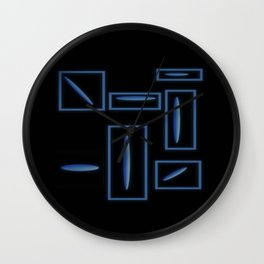 Blue Rocks in Space Wall Clock