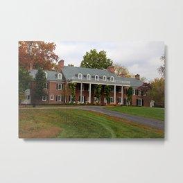 Wildwood Manor House in the Fall Metal Print