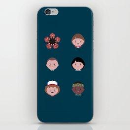Stranger Icons iPhone Skin