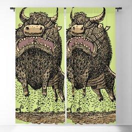 Crete Bull Blackout Curtain
