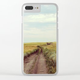 Rustic photography Country road photo Landscape print Nature poster Summer Clear iPhone Case
