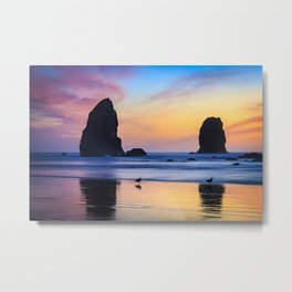 The Needles at Haystack Rock Metal Print