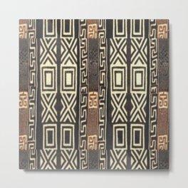 African Tribal Pattern No. 123 Metal Print